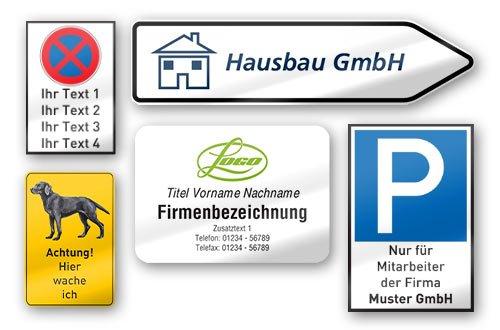 Baustellenschilder zum ausdrucken  Schilder drucken lassen: Online Schilderdruck-Shop