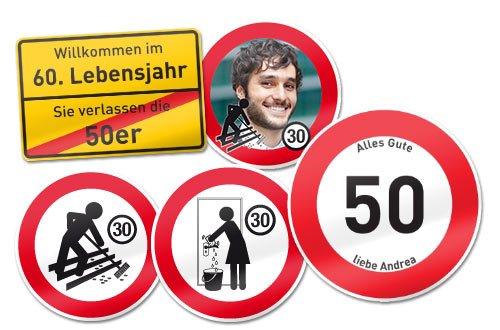 Verkehrsschilder mit eigenem Foto